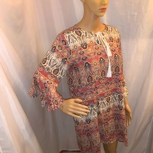 NWT size MED flutter sleeve BATHING SUIT COVER UP